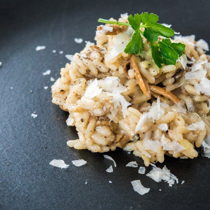 yellow food chanterelle risotto