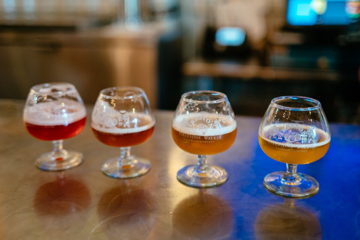 Beers at Firestone Walker's Barrelworks