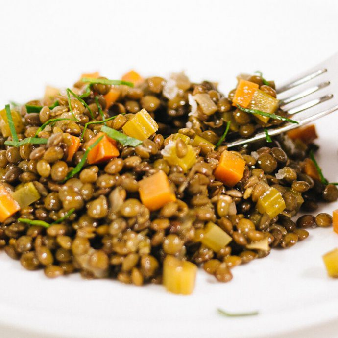 French lentil salad is simple to make