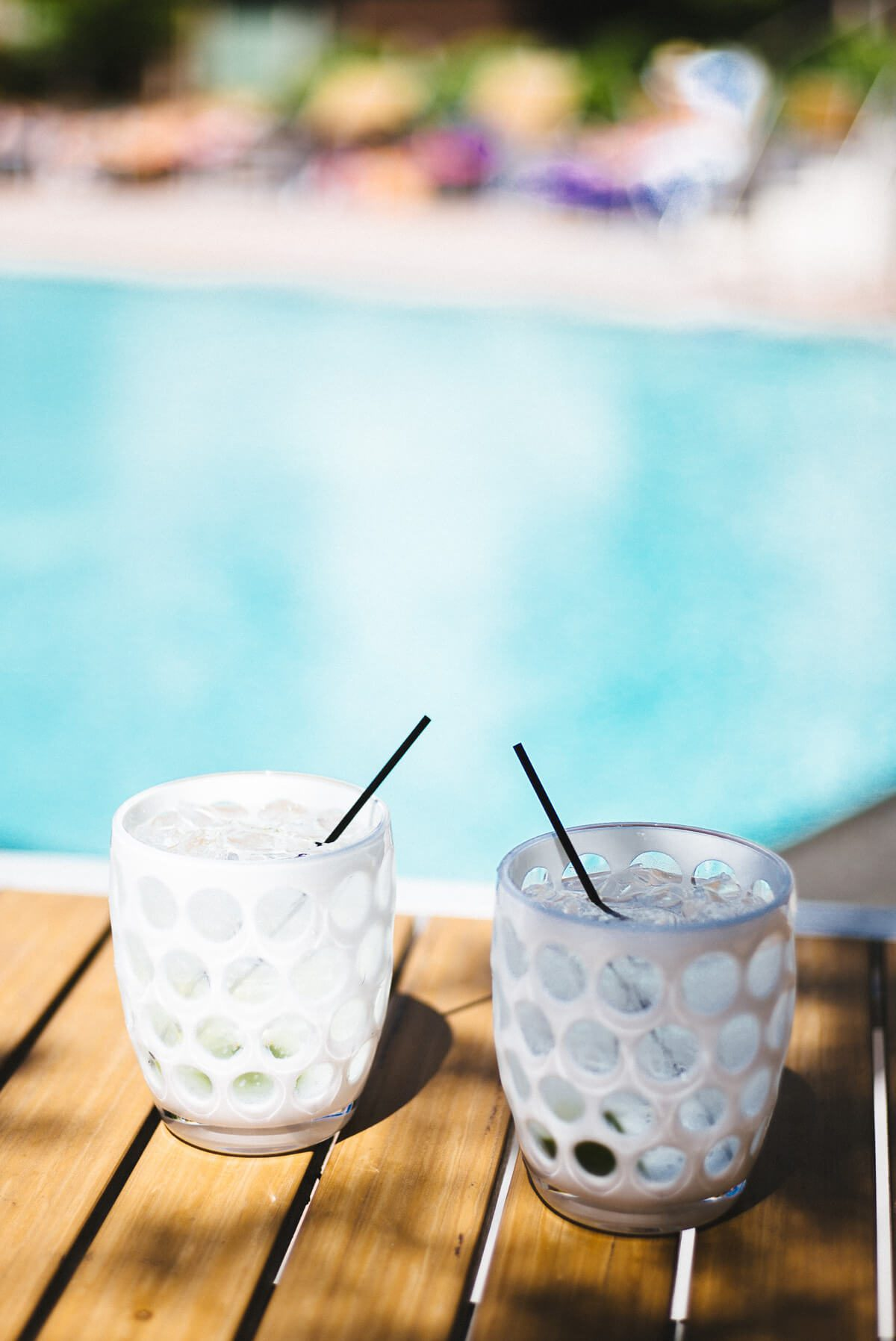 Drinking the best vodka tonics next to the pool are simple and refreshing in these tumblers.