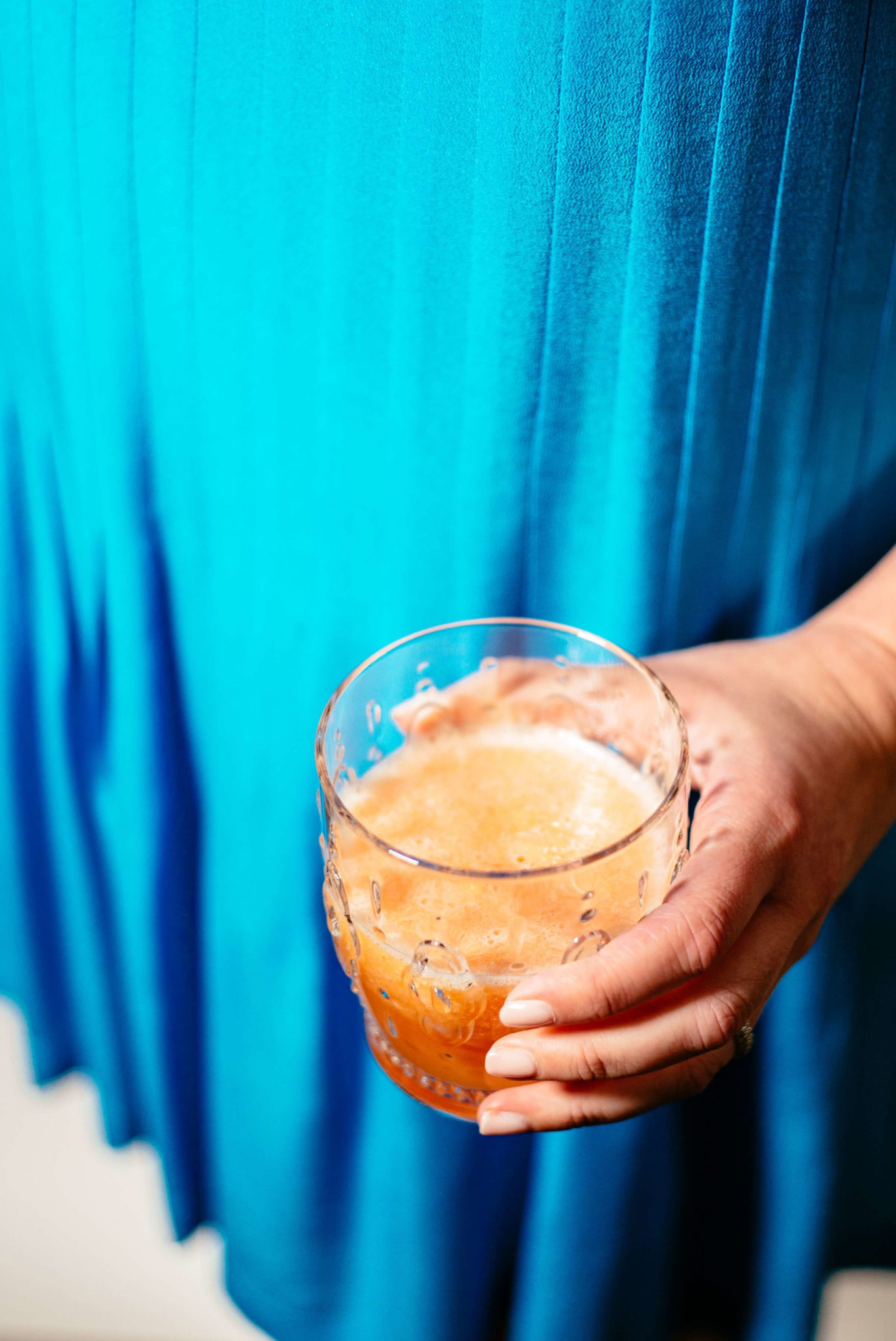 The Taste SF makes a Blood Orange and Prosecco Cocktail
