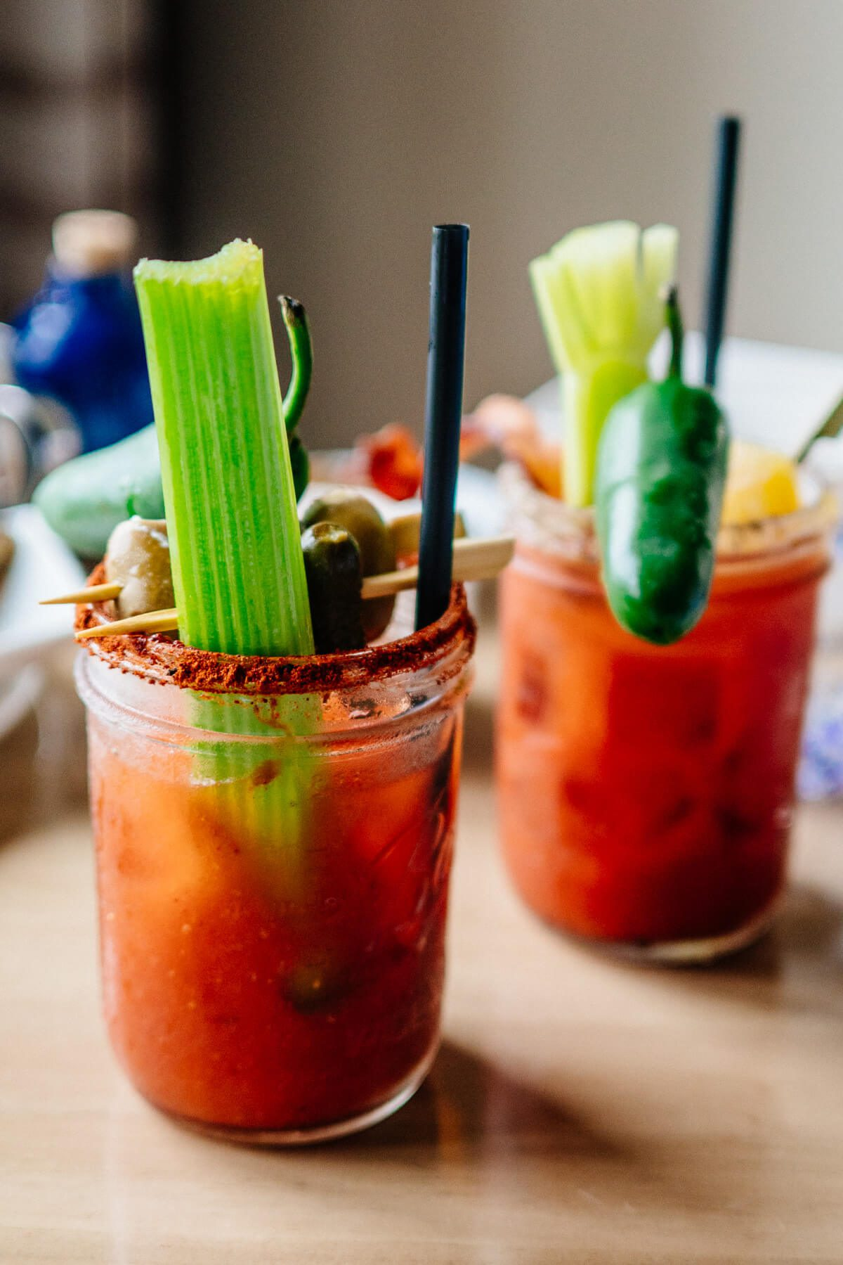 Build your own bloody mary with st george botanivore gin at Saturday Farmers Market Brunch at Navio The Ritz-Carlton Half Moon Bay