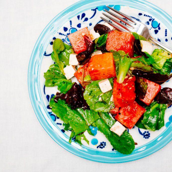 Watermelon Ricotta Salata Salad is simple and flavorful