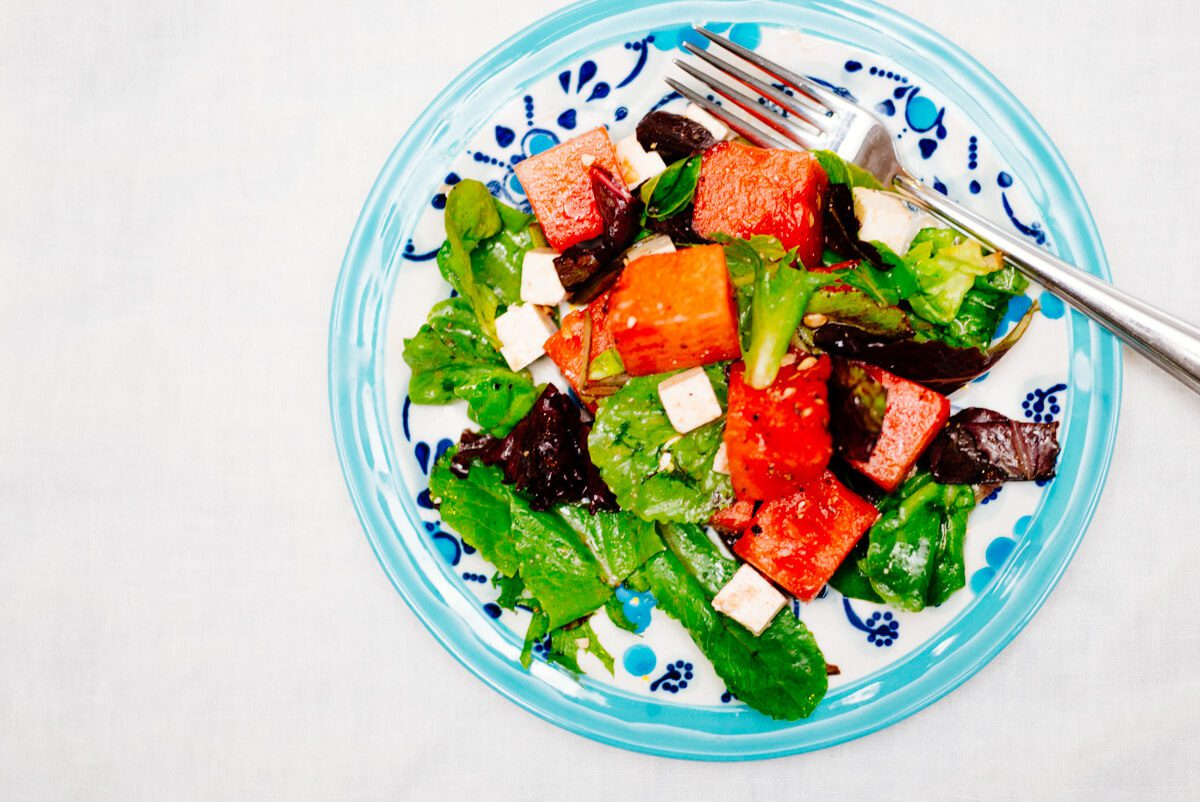 Watermelon Ricotta Salata Salad is simple and flavorful