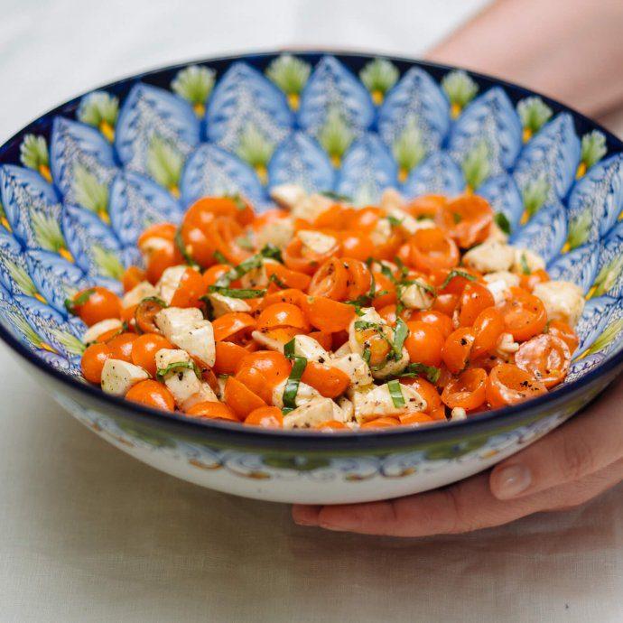 the taste sf loves this cherry tomato mozzarella salad
