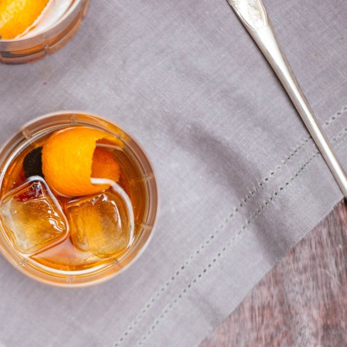 The Autumn Old Fashioned is a simple cold weather cocktail