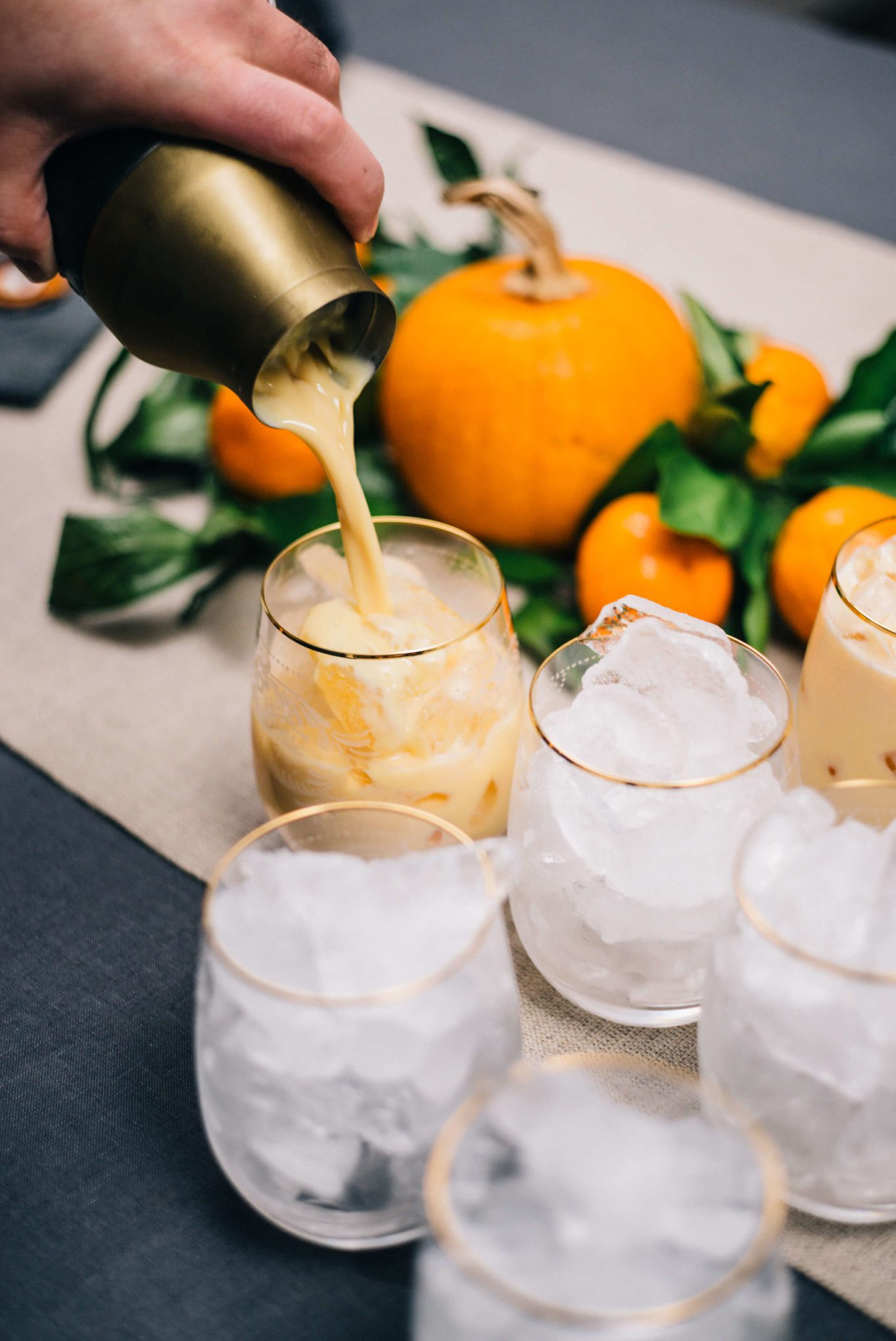 Pumpkin Cocktails are simple to make for your Thanksgiving cocktails or Haloween cocktails, perfect for a cocktail party made with Hangar 1 Vodka by The Taste SF