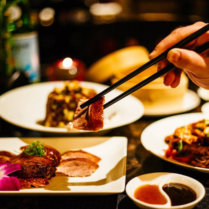 The taste sf tries the Traditional Pekin Duck at the shanghai terrace in chicago at the peninsula hotel