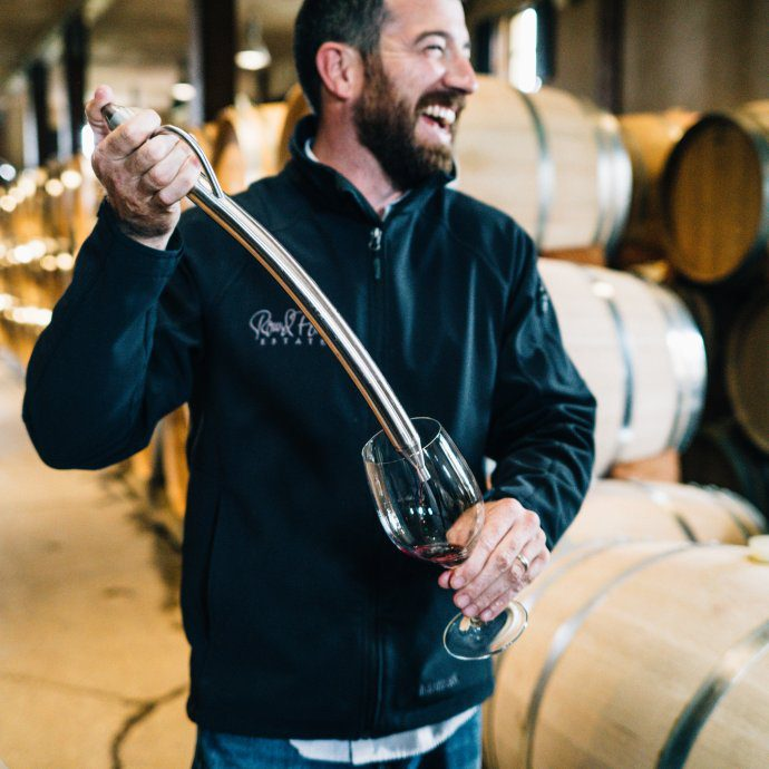 Wine Maker Muiris Griffin at Round Pond Estate Rutherford Napa and The Taste SF