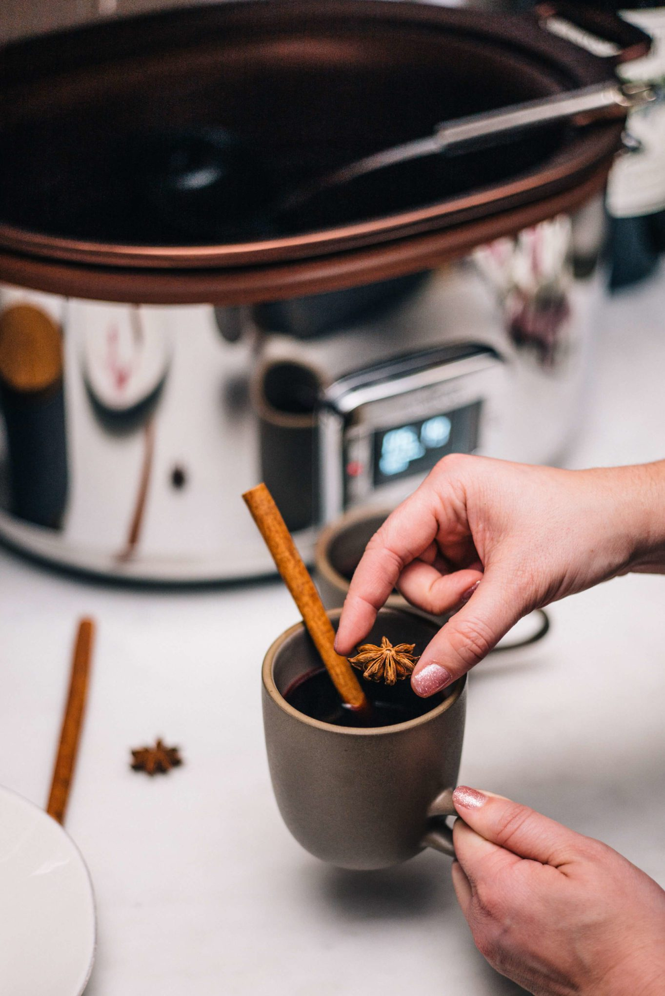 Making mulled wine in an All-Clad Gourmet Slow Cooker with The Taste SF