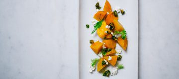 Pickled Beet and Goat Cheese Salad With Pistachio Gremolata