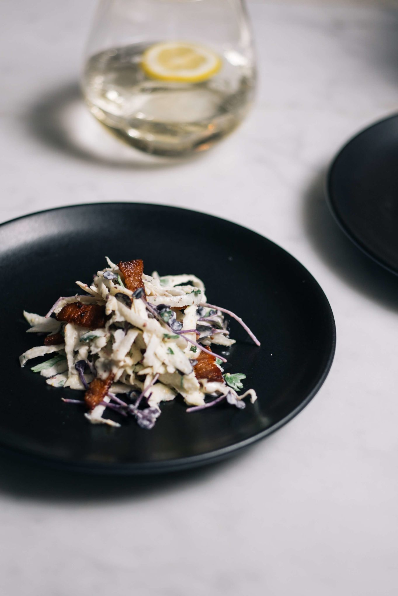 Celeriac and Bacon Salad made by the taste sf