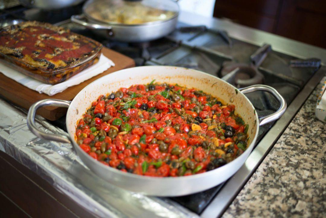 Farmer's Pasta sauce, Mamma Agata's Cooking School, Ravello, The Taste SF