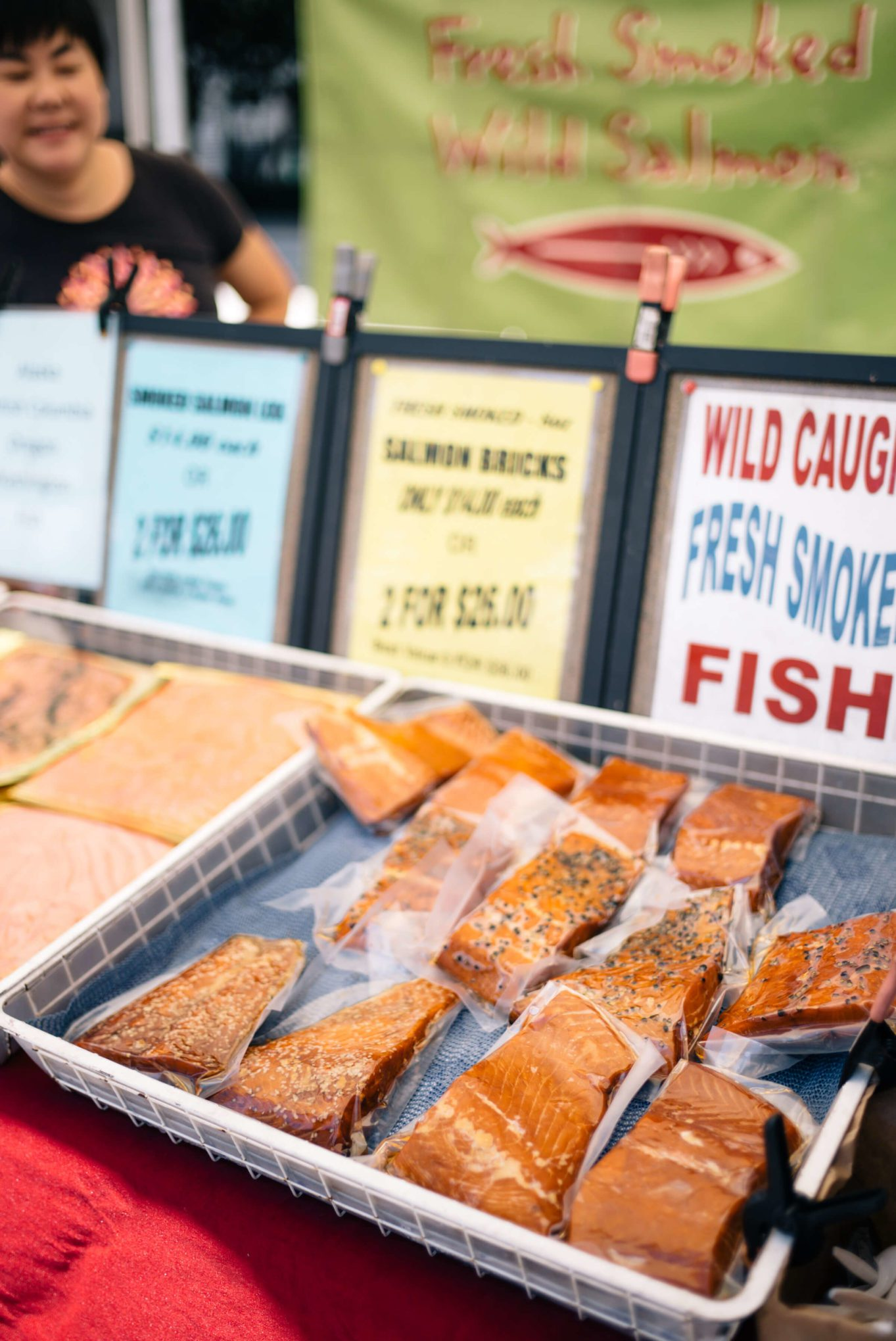 Mission Bay Farmers' Market at UCSF smoked salmon