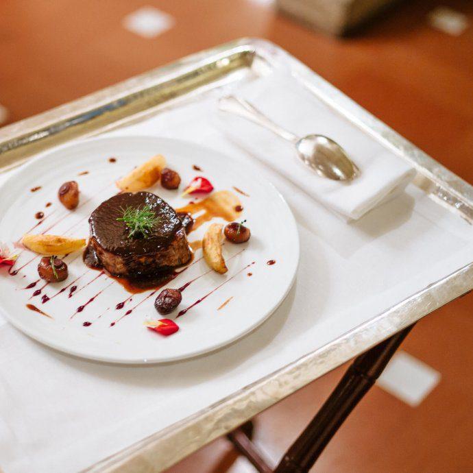 Chianina beef at Il Verrocchio is the restaurant at Villa la Massa in Florence, The Taste SF