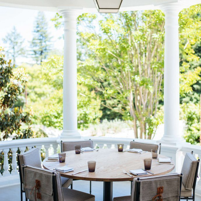 The porch is breathtaking at Acacia House Restaurant in Napa, The Taste SF