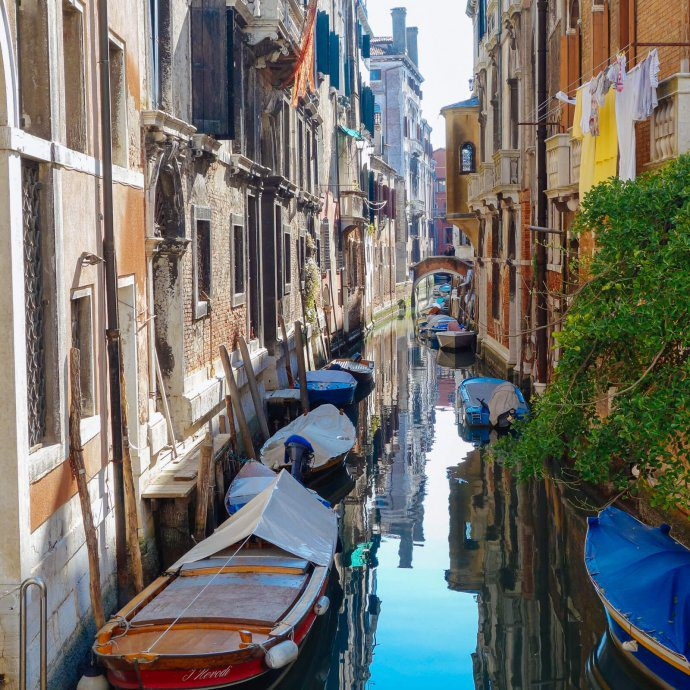 Boats in the Venice Canal in Italy, The Taste SF