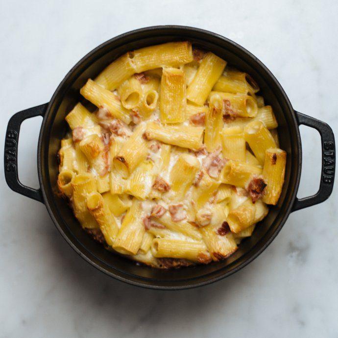 Easy dinner, Bechamel Rigatoni Pasta Recipe, The Taste SF