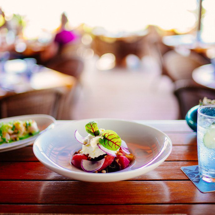 The best restaurant in Kona for lunch at the Beach Tree Club Restaurant at Four Seasons Hualalai the luxury hotel, thetasteSF