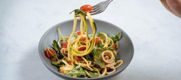 Zucchini Noodles in a Fresh Tomato Sauce
