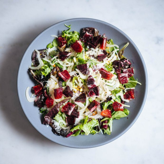 Make this easy blood orange and burrata salad with fennel and pistachios from The Taste SF