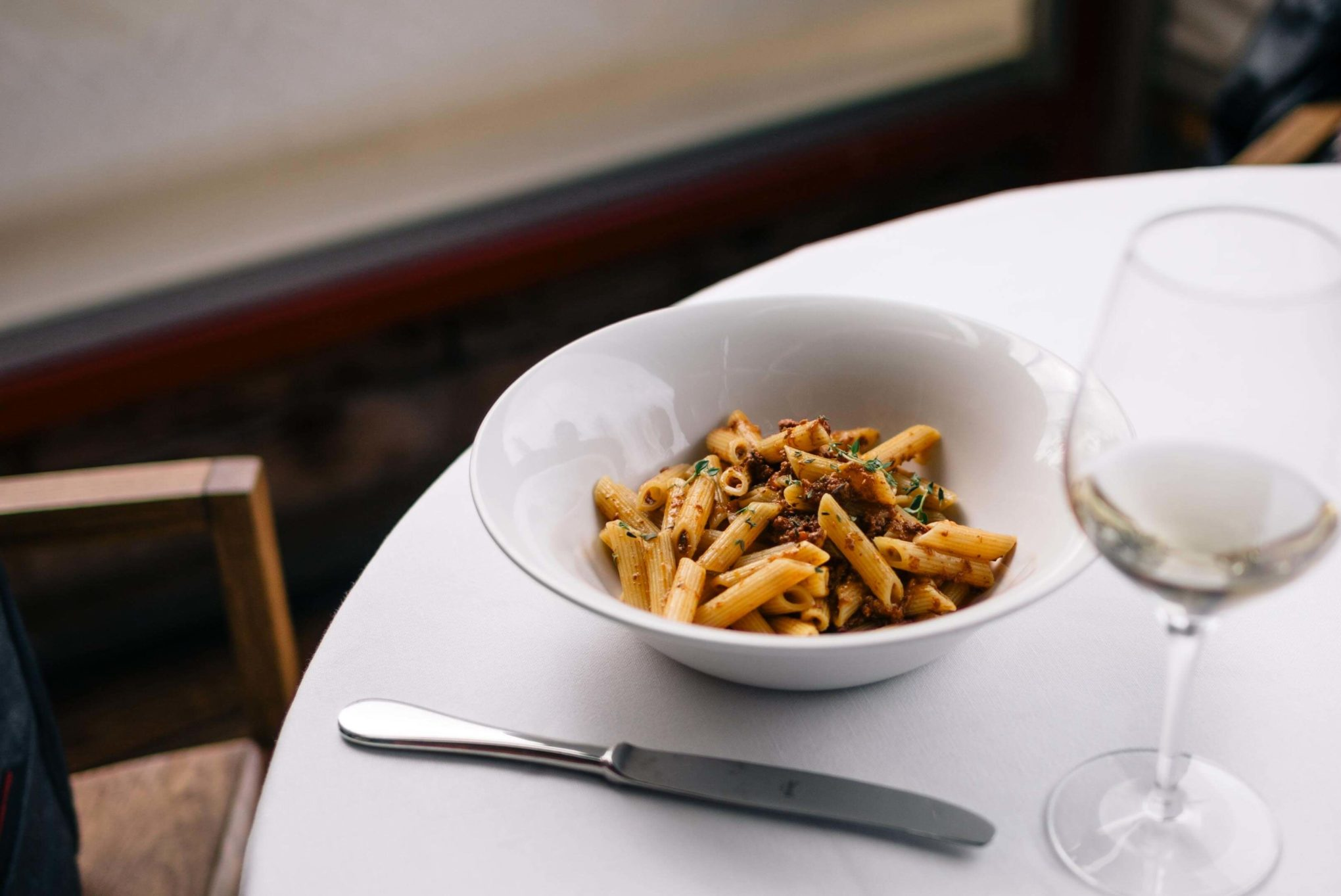 Beautiful deer ragu pasta at Erba Brusca for lunch just outside of Milan, Italy - The Taste SF
