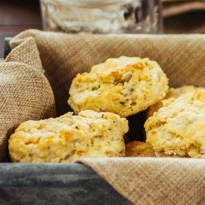 Point Reyes Chees Bay Blue & Herb Biscuits recipe by chef Jennifer Luttrell