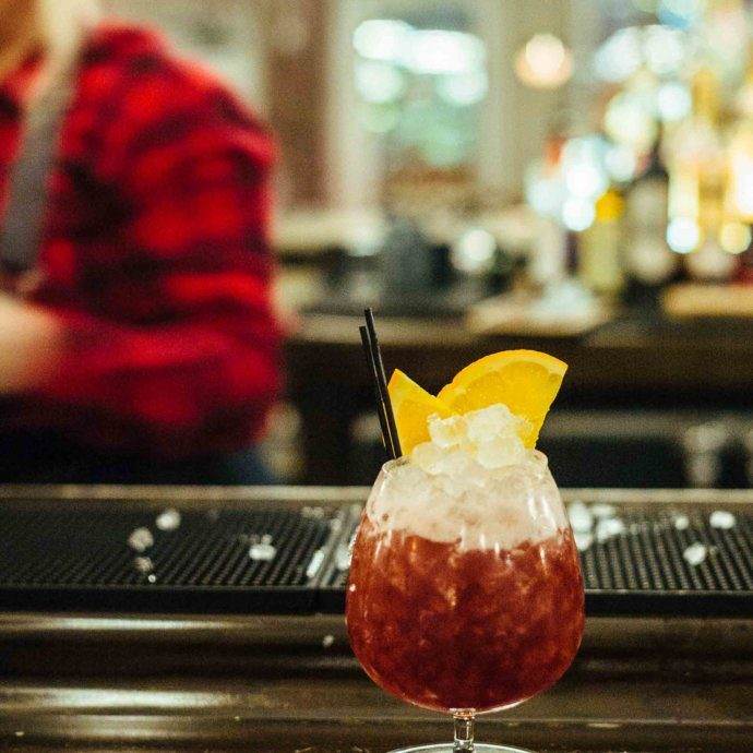 The Taste SF food and travel bloggers share the recipe to make the World's Fair Cocktail from one of Nashville's best craft cocktail bar LA Jackson - using sloe gin.