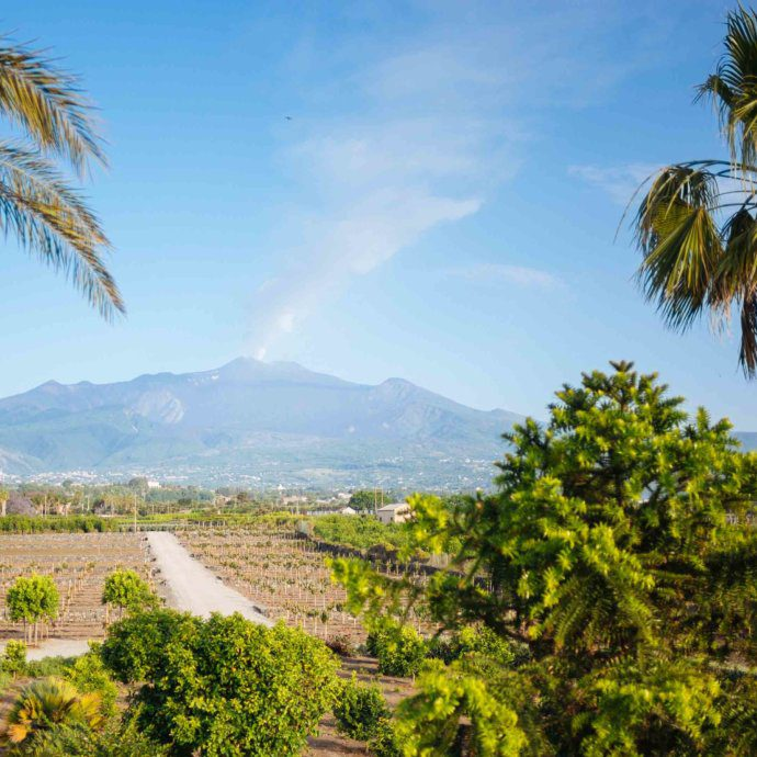 The Taste SF stays at Villa Don Venerando in Sicily with the Thinking Traveler with views of the sea and Mt. Etna in Sicily Italy near Catania and Taromina.