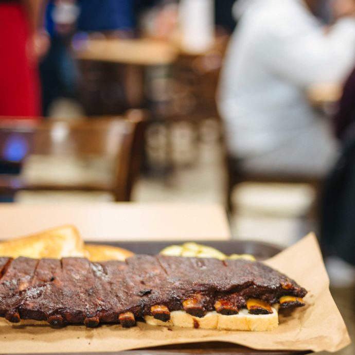 Head to the original Joe's BBQ for the best Kansas City BBQ restaurant - order the full slab of BBQ ribs