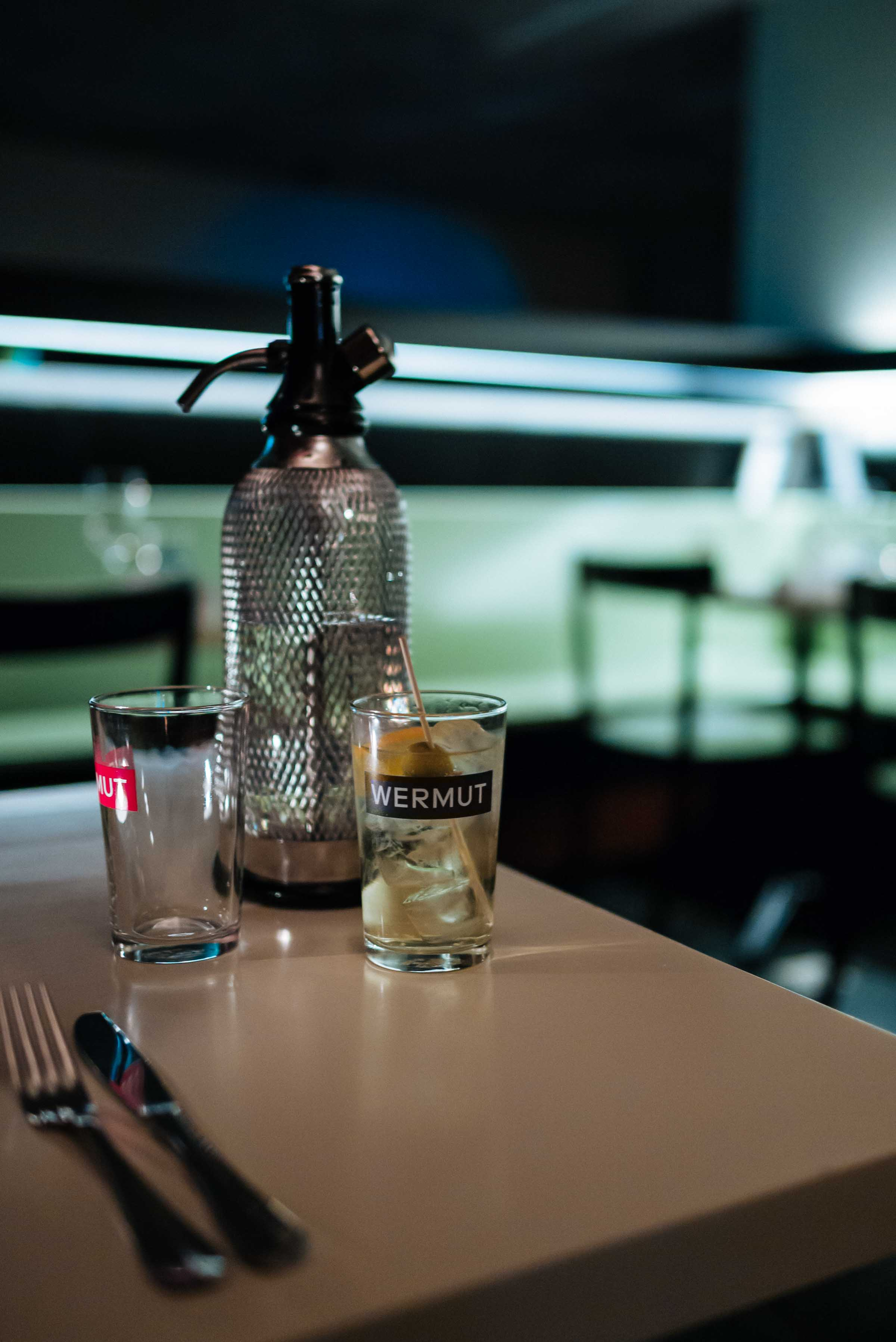 start dinner with vermouth and soda at Zurich Restaurant: Wermut Vermouth Bar and Restaurant