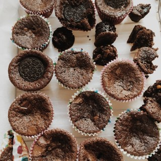 Mini Chocolate Brownie Cupcakes