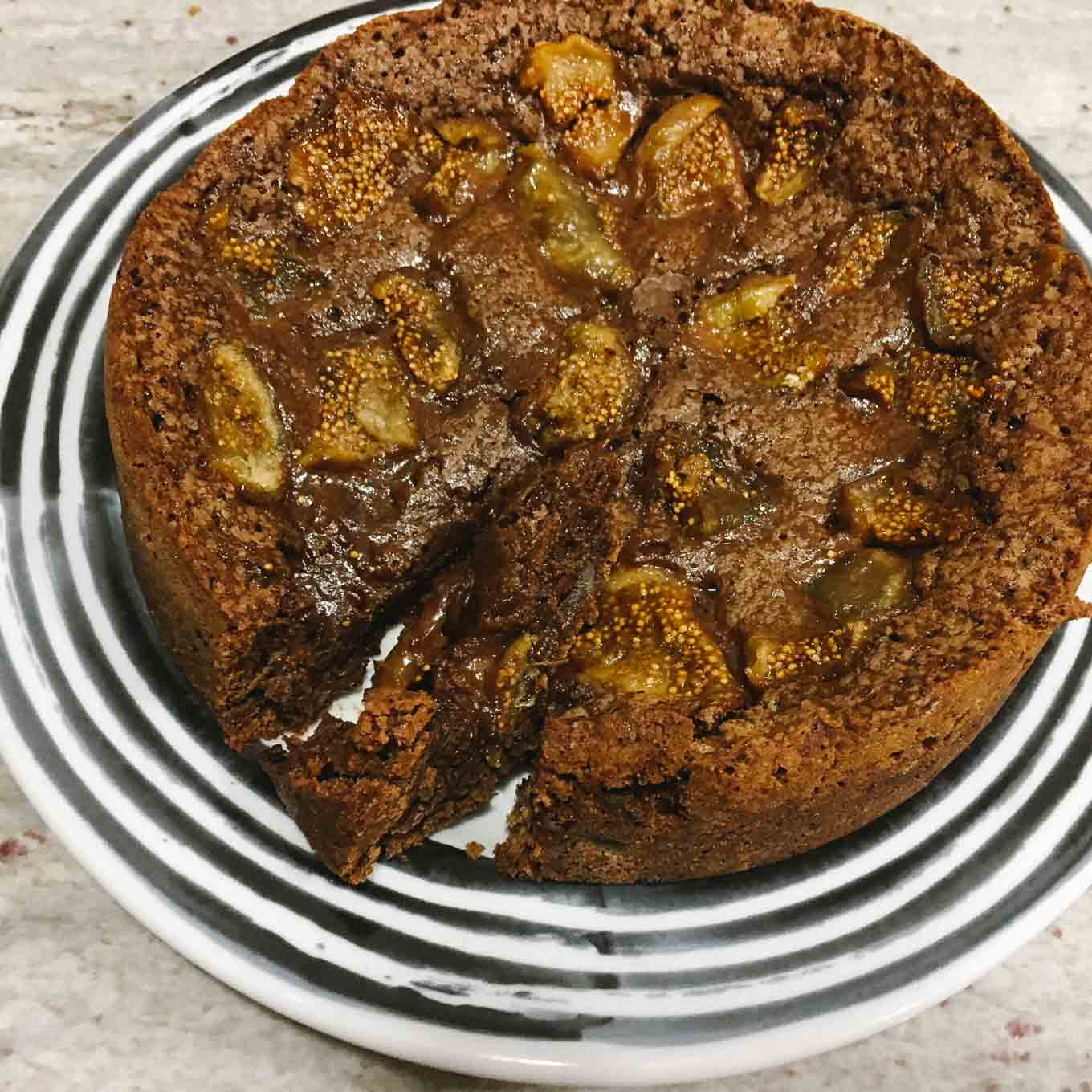 Soft Chocolate and Fig Cake   the Tastiest Book