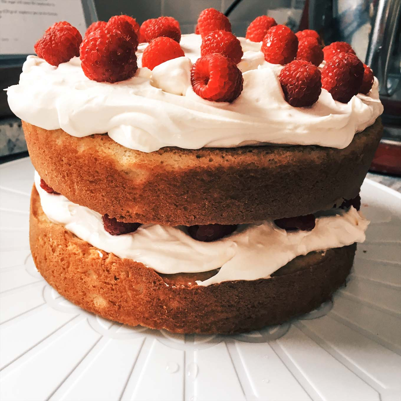 Raspberry Cream Cake | the Tastiest Book