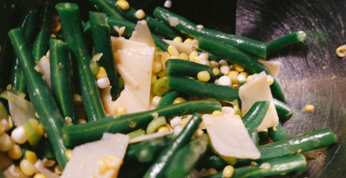 Corn, Green Beans, and Parmesan