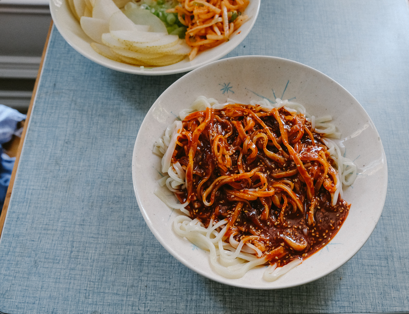 Spicy Korean Noodles | thetastiestbook.com