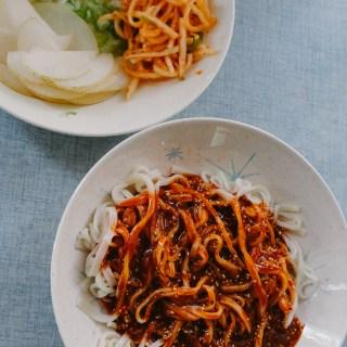 Spicy Korean Noodles | thetastiestbook.com