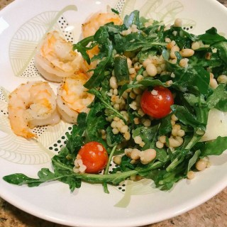 Shrimp with Farro and White Beans | the Tastiest Book
