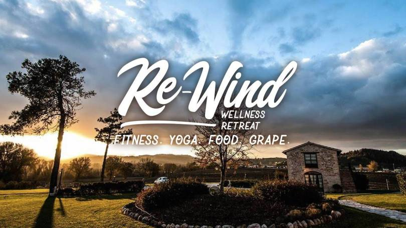 Re-wind wellness retreat fitness yoga food grape