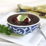 Cuban Black Bean Soup with Smoked Ham Hock