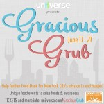 Gracious Grub NYC: Raising funds and awareness for Food Bank for NYC June 17 – 27
