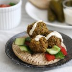 Chickpea Falafels with Tomato and Cucumber Salad