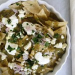 Chilaquiles with Blackened Salsa Verde