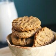 5-Ingredient Peanut Butter Cookies {Gluten-Free}