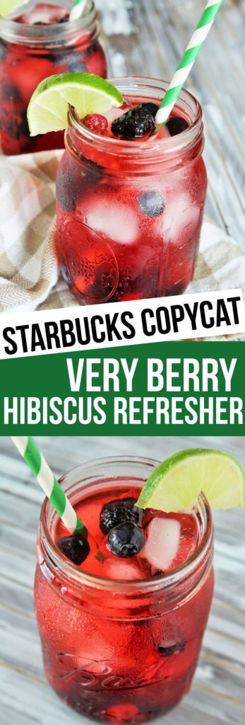 Make this Starbucks favorite, Very Berry Hibiscus Refresher, right at home!
