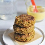 Spiced Chickpea and Carrot Fritters with Curry Yogurt Sauce