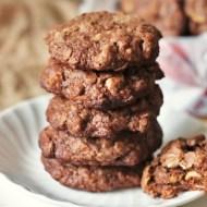 Chocolate Chunk Hazelnut Oatmeal Cookies