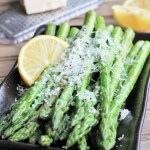 Lemon Parmesan Asparagus {Meatless Monday}