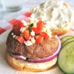 Greek Burgers with Whipped Feta Spread