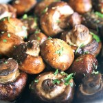 Steakhouse Sauteed Mushrooms {Meatless Monday}